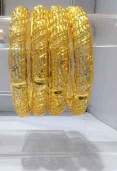 gold plated bangles 2 piece for women