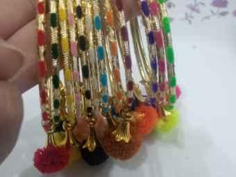 Multi Color Indian Thread Bangle Set For Casual And Party Wear For Girls Women Ladies