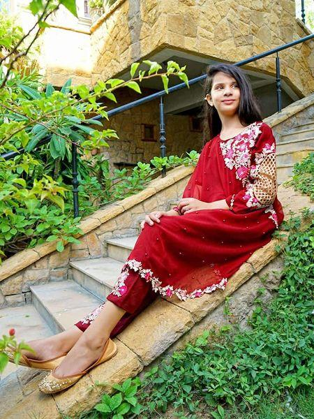 Red Beautiful Dress For Kids