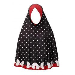 Pretty Muslim Girls Scarves - Black and Red Multicolor
